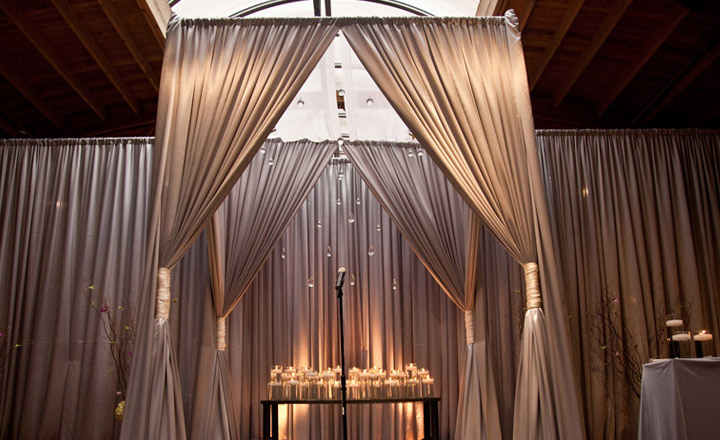 platinum chuppah wedding structure